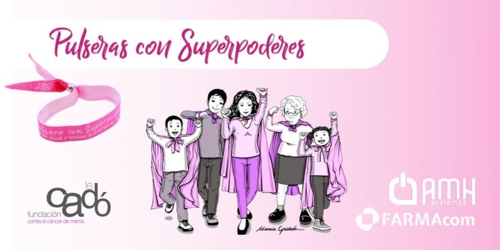 Pulseras Con Superpoderes contra el cáncer de mama